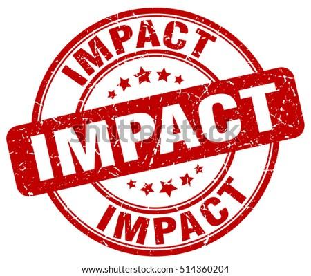 impact stamp.  red round impact ...