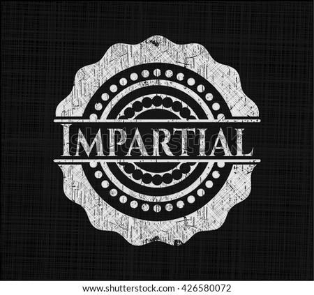Impartial chalk emblem