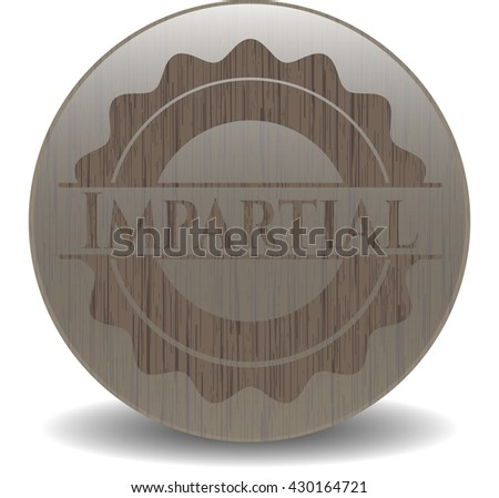 Impartial wooden signboards