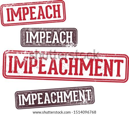 Impeach and Impeachment Rubber Stamps Foto d'archivio ©