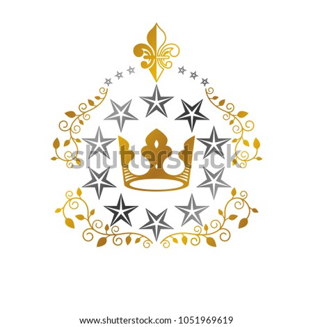 imperial crown  military star