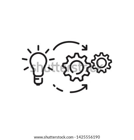 implementation icon, illustration design template Сток-фото ©