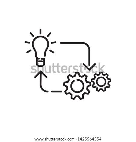 implementation icon, logo design template Сток-фото ©