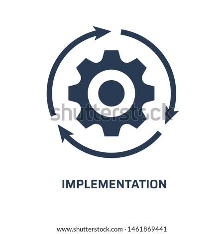 Implementation icon. Trendy modern flat vector implementation icon on white background from general collection, vector illustration Сток-фото ©
