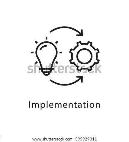 Implementation Vector Line Icon  Сток-фото ©
