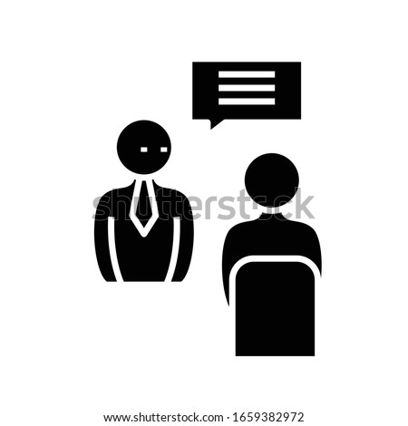 Important instructions black icon, concept illustration, vector flat symbol, glyph sign.