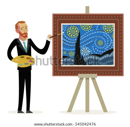 impressionist painter creating