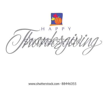 Impressionist Vector Letter Series: Thanksgiving Day