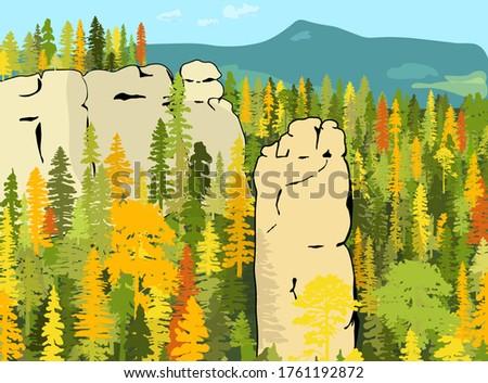 impressive sandstone rock