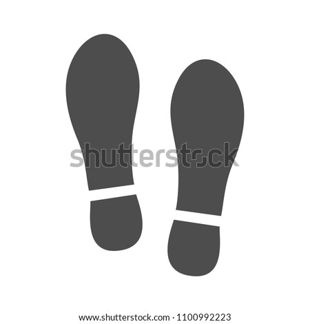 Imprint soles shoes sign icon. Shoe print symbol