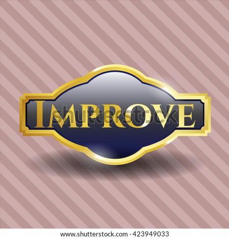 Improve gold emblem or badge
