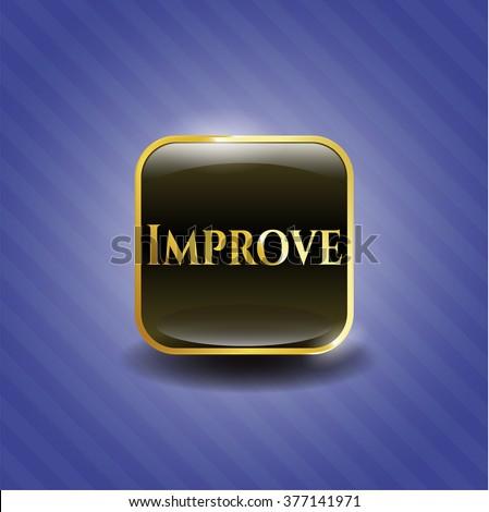 Improve golden emblem or badge