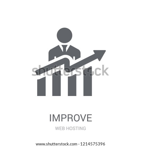 Improve icon. Trendy Improve logo concept on white background from web hosting collection. Suitable for use on web apps, mobile apps and print media.