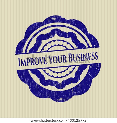 Improve your Business grunge seal