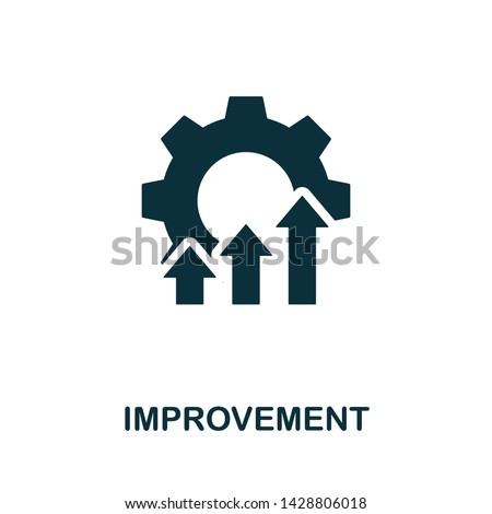 Improvement vector icon illustration. Creative sign from quality control icons collection. Filled flat Improvement icon for computer and mobile. Symbol, logo vector graphics.