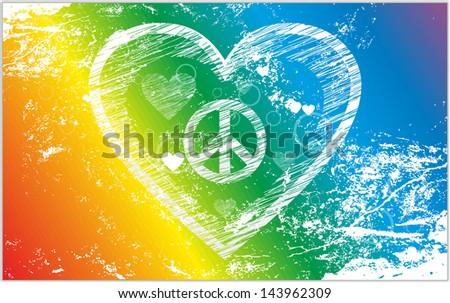improvised rainbow flag of