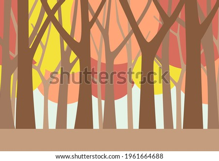 in autumn  the scenery of the