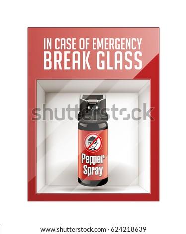 In case of emergency break glass - self defense concept
