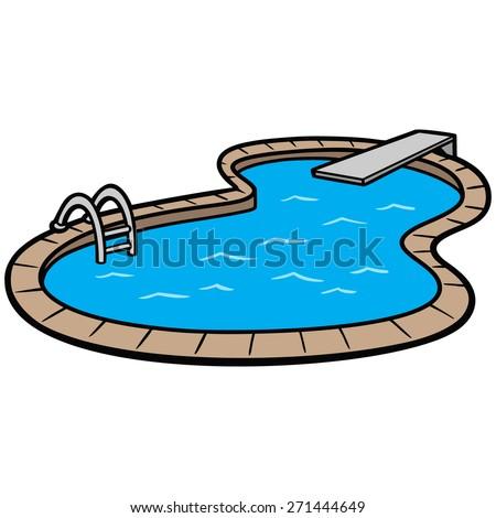 In Ground Swimming Pool Stock Vector Illustration 271444649 Shutterstock