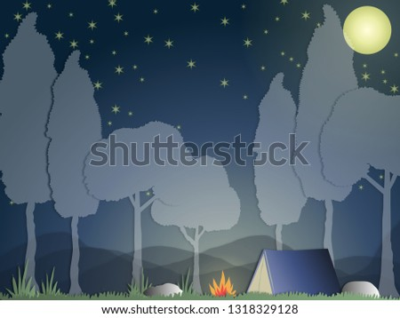 367164f449 in holiday should travel trip camp in forest nature see super moon stars  adventure picnic night