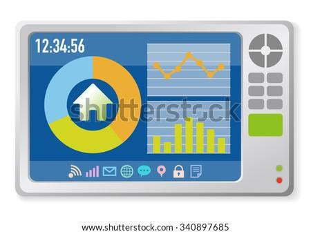In Home Display, Smart Home Monitor, Smart Meter, vector illustration