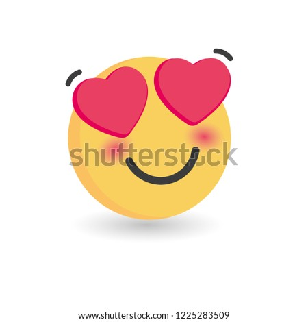 In love emoticon. Isolated vector illustration on white background #1225283509