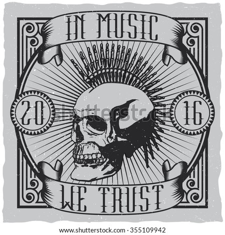 in music we trust label design