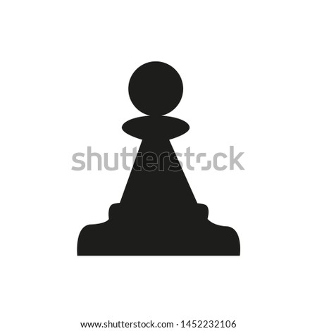 In the figure, the figure is a figure of a chess pawn, a pawn symbol of fear, simplicity, recklessness, unprofessionality. The figure for infographics, for business, project.
