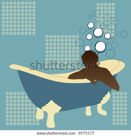 in the tub vector