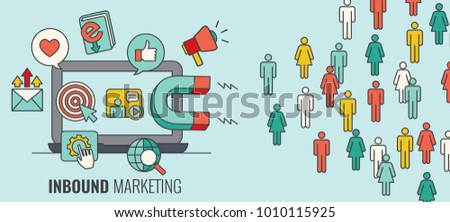 Inbound Header w Magnet Attracting new Leads and Generating Income with Inbound Marketing