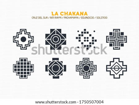 Inca Cross Chakana, Inti Raymi Ecuador, Peru emblematic symbol of an ancestral and cultural celebration of the Andean peoples for the winter solstice. Ethnic folk image. Tribe motif. Tribal. Pachamama