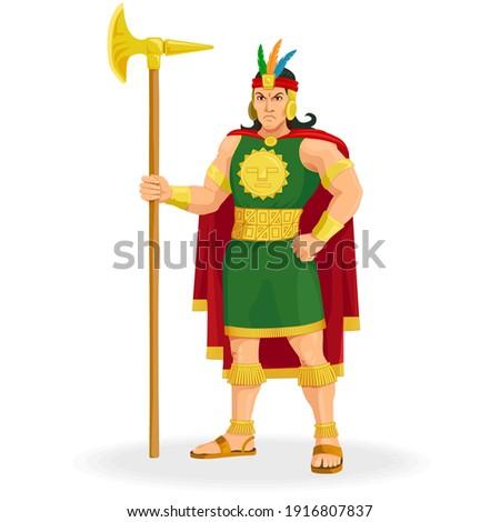 Inca the sovereign of the Inca Empire, son of the sun. Inca king. Inca Lord Сток-фото ©