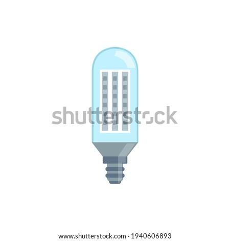 Incandescent energy saving halogen light bulb vector illustration isolated. Stock photo ©