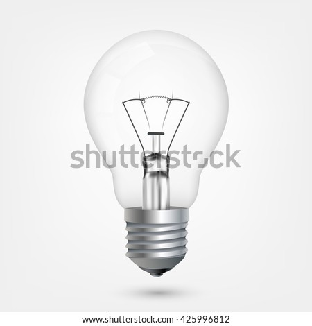 Incandescent energy saving light bulb #425996812