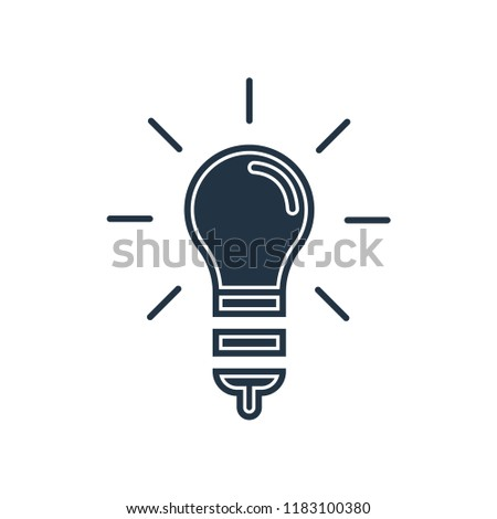 Incandescent icon vector isolated on white background for your web and mobile app design, Incandescent logo concept