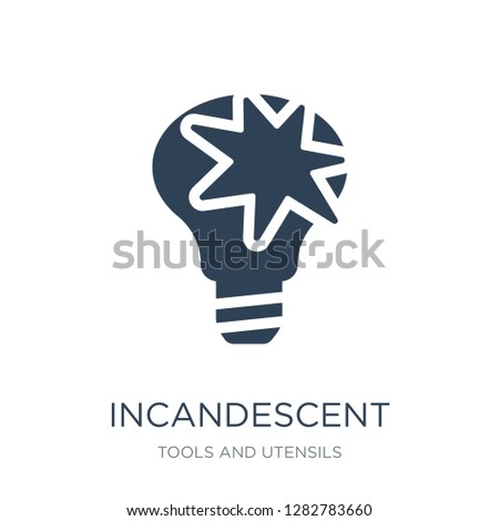 incandescent icon vector on white background, incandescent trendy filled icons from Tools and utensils collection, incandescent vector illustration