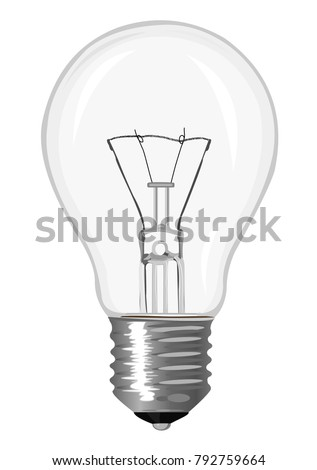 Incandescent lamp isolated on a white background