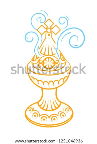 Incense burner icon. Trendy flat vector Incense burner icon on white background . Icon, silhouette in linear style.