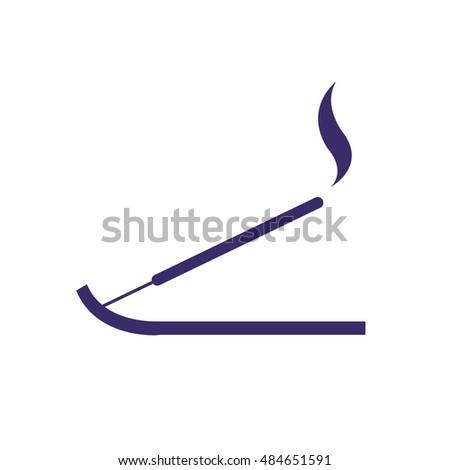 incense sticks icon vector