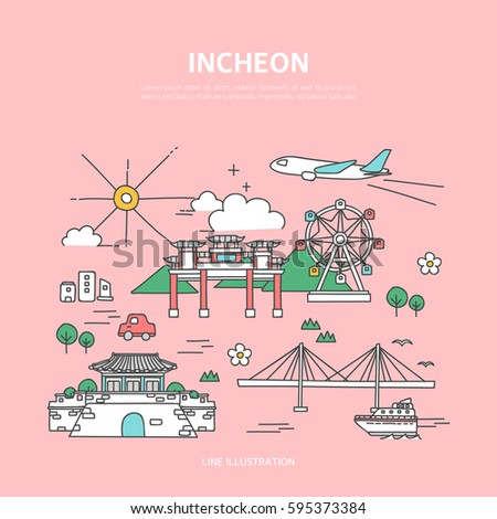 Incheon line layer set