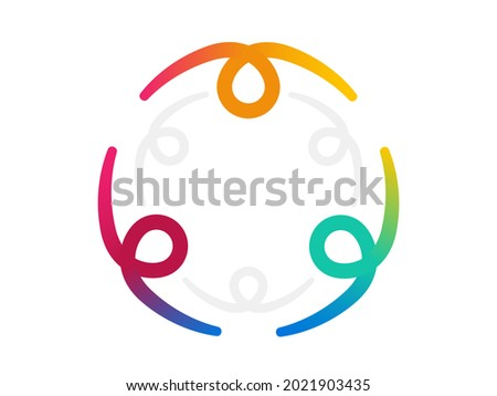 Inclusion and diversity culture equity logo. Group of persons with gender equality icon. Inclusion infographic. Disability rights. Culture team group. Social equity and gender equality logo. Vector