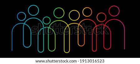 Inclusion and diversity infographic vector set, people vector logo for website  Foto d'archivio ©