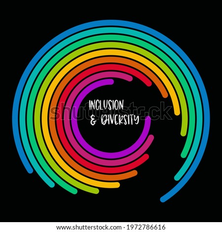 Inclusion and diversity infographic vector set, people vector logo for website Stock photo ©