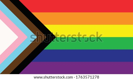 Inclusive Pride Flag - Queer LGBTQIA+ - BIPOC, Trans, Gay, Lesbian, Bisexual, Asexual, Intersex