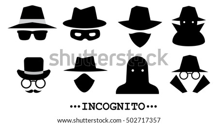 incognito icons collection of