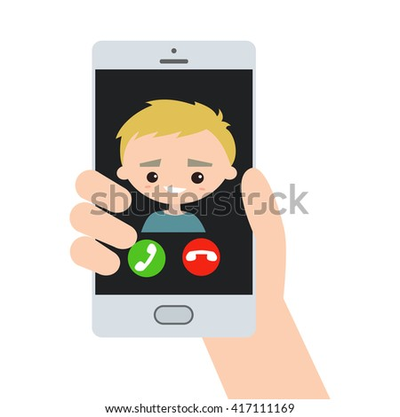 incoming call  blond handsome