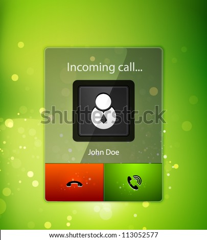 Incoming call user interface