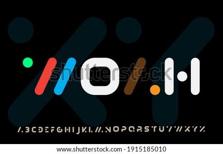 incomplete calligraphy alphabet capital lettering a to z font family Stock fotó ©