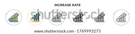 increase rate icon in filled