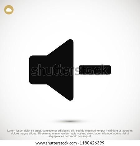 Increase Volume Sound Speaker Icon, stock vector illustration flat design style